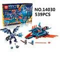 2017 lepin 14030 nexus arcilla caballeros del halcón luchador blaster building block set grimroc figuras niños juguetes 70351 compatible