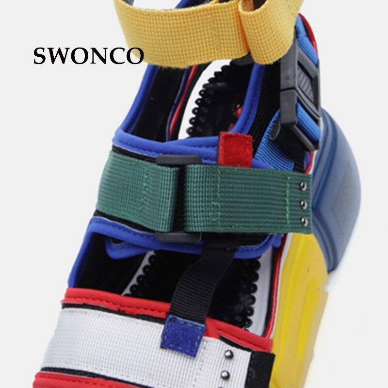 HTB1Tg7jOkvoK1RjSZFwq6AiCFXa4 SWONCO Women's Sandals 2019 Summer High Heels Sandals For Women Chunky Sandal Womens Wedge Platform Shoes Casual Summer Sandal