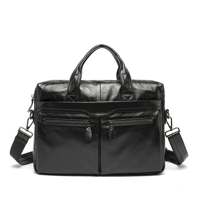 WESTAL Genuine Leather Bag Casual  Handbags Cowhide Men Crossbody Bags Men's Travel Bags Tote Laptop Briefcases Men Bag 9005