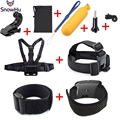 Gopro Accessories Set Wrist Chest Head Strap Mount Floating Bobber J Hook Adapter for Go pro Hero 5 5S 4 3+ xiaomi yi  GS30