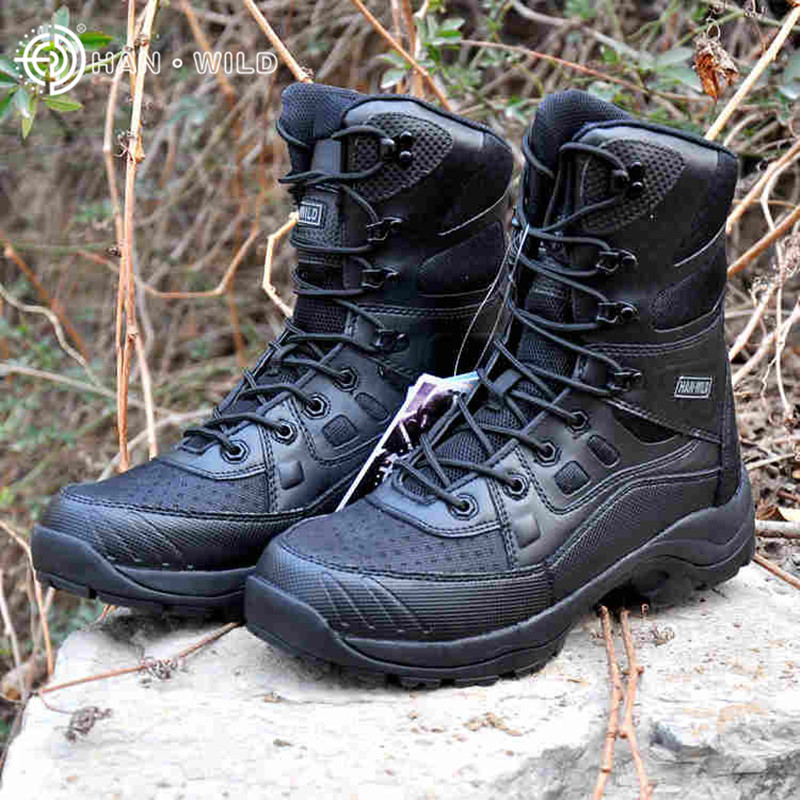 Hanwild Outdoor Hiking Boots Mens Breathable Tactical