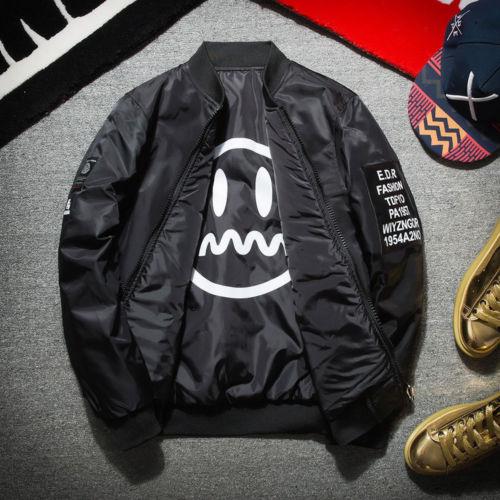 949d2ec63b267 Canis calle chaqueta hip hop traje peso pesado chaqueta de bombardero  chaqueta Moda hombre béisbol abrigo en Chaquetas de La ropa de los hombres  en ...