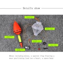 1 комплект, поплавок для ловли карпа, морской монстр, поплавок с сильными взрывными крючками, рыболовные снасти, наборы
