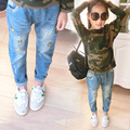 Children 's wear jeans pants Korean summer cat  pants children casual spring and autumn Jeans 2-9 year