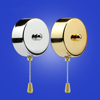3A 250V Vintage Zipper Pull Rope Wall Switch With 5cm Beaded Rope Switch Wooden Handle For