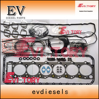 For Isuzu 6HK1 6HK1T 6HK1 TC full gasket kit + cylinder liner piston ring valve guide|Pistons  Rings  Rods & Parts| |  -