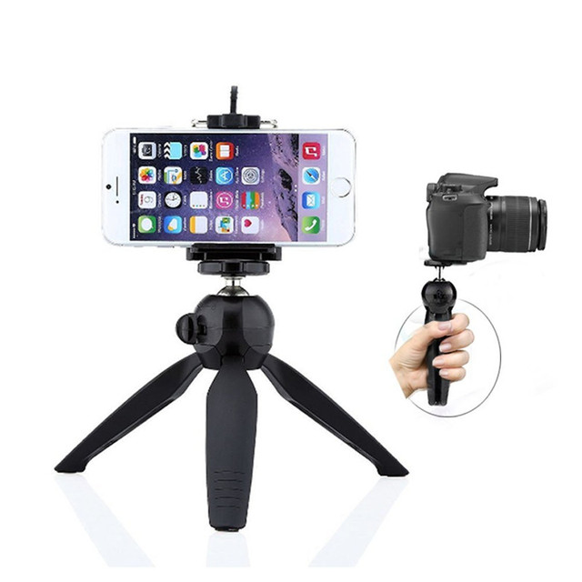 on sale 1bee7 9cded US $8.29 17% OFF|JERX Mini Tripod Phone Holder Clip For IPhone 8 7 6S Plus  X 360 degree Rotation bracket Mount Stand Compact Cameras Smartphone -in ...