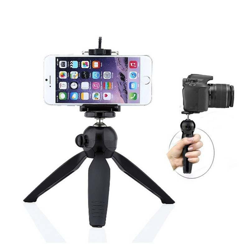 JERX Mini Tripod Phone Holder Clip For IPhone 8 7 6S Plus X 360 degree Rotation bracket Mount Stand Compact Cameras Smartphone