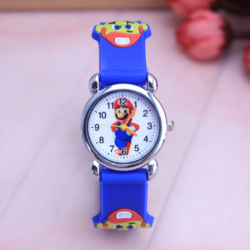 Free Shipping 1pcs/lot Wholesale Super Mario Cartoon Watch,3D Quartz Children Kids Factory Price