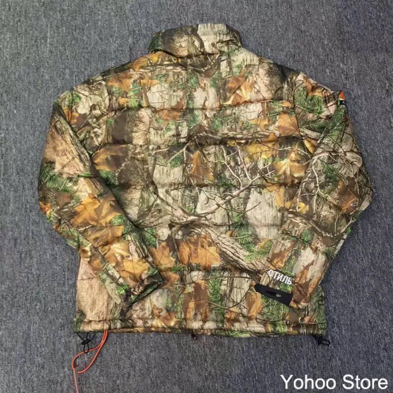Sureme 2018FW Heron Preston Jacket Men Women Camouflage Leaf Mountain Jacket 1:1 Made Heron Preston Winter Coats Men Parka or fabric camouflage leaf headgear