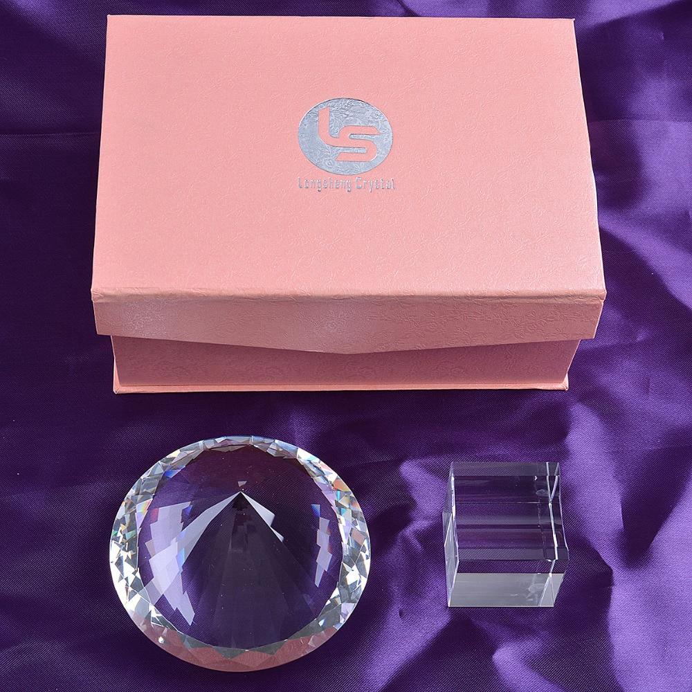 Skickas från USA Clear K9 120mm Crystal Diamond Paper Paperweight - Heminredning - Foto 6