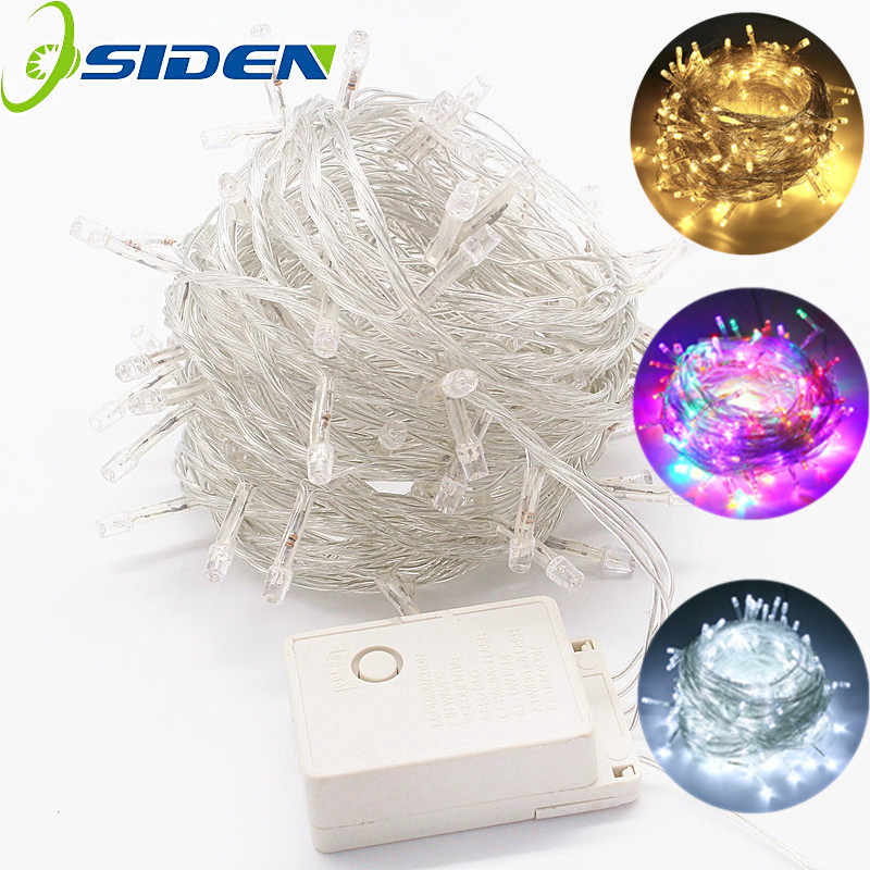 Christmas LED light string 5m10m 50m 220 volts wire waterproof wreath holiday lighting for fairy tree wedding party decoration