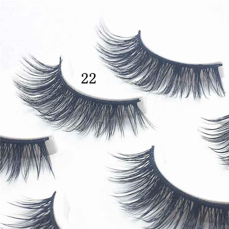 Hbzgtlad новые сексуальные 100% ручной работы 3D норковые волосы красота Толстые Длинные Накладные ресницы из норки накладные ресницы высокого качества 22