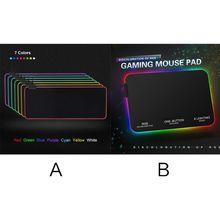 Игровой светодиодный резиновый светильник RGB 7 красочная мышка с подсветкой коврик для ПК ноутбука Настольные аксессуары для ноутбуков