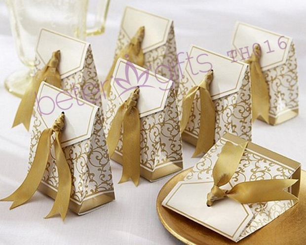 240pcs 50th Anniversary Favor Box With Gold Ribbon TH016 Party ...
