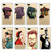 Cartoon Music Boy Gorillaz Beautiful Lady Dog Girl Soft Silicone Cover Phone Cases For iPhone 5 5s SE 6 6s 7 8 Plus X 8plus