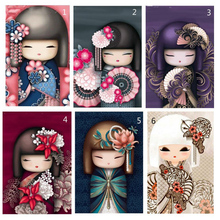 diamond embroidery beauty girl mosaic crystal 5d cross stitch full square drill diamond painting diy sticker decor paintings 5D DIY Full Diamond Painting Cartoon Diamond Embroidery Cross Stitch Kimono Girl Drill Needlework Mosaic Home Decor Paintings