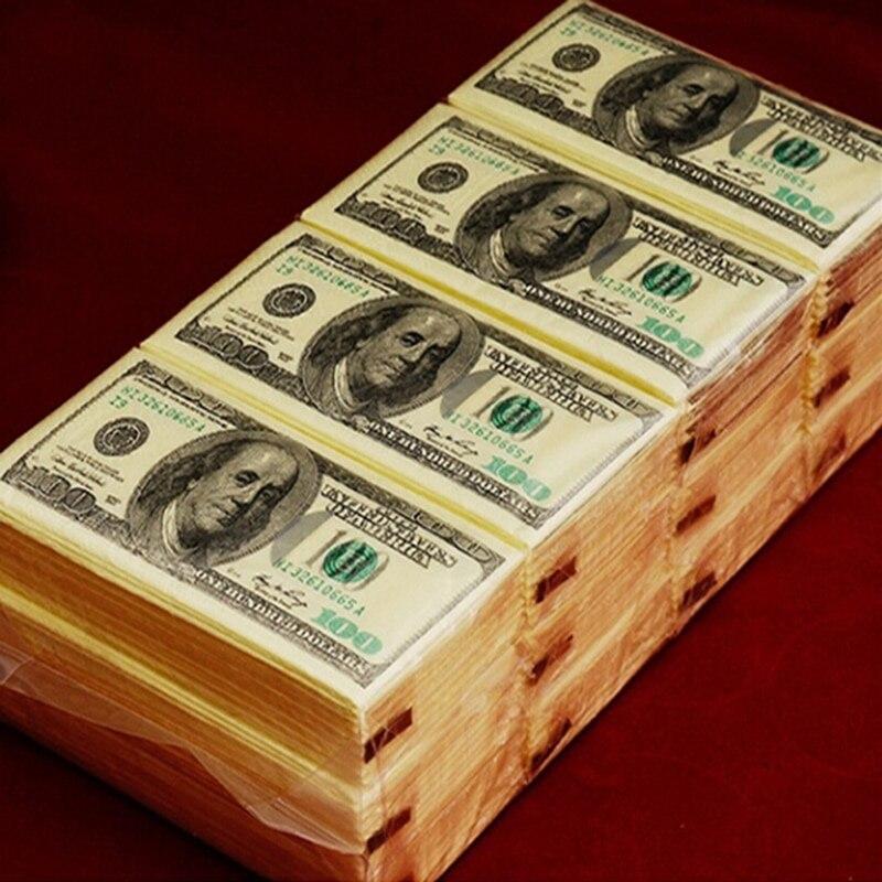 Dollar $ 100 Bill Money Pocket Tissue Paper Napkins Joke Gift 4th July Party CasinoDollar $ 100 Bill Money Pocket Tissue Paper Napkins Joke Gift 4th July Party Casino