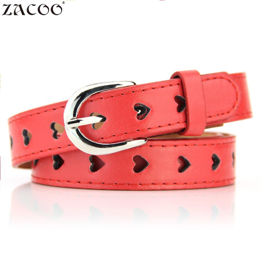 Women's Belts Zacoo Womens Fashion Belts Hollow Heart Alloy Pin Buckle Pu Belt 10 Colors San0 Nourishing The Kidneys Relieving Rheumatism