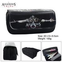 Аниме Assassin Creed игра-головоломка мальчик девочка мультфильм карандаш сумка Школа Чехлы Дети Студент Pen мешок дети кошелек подарок