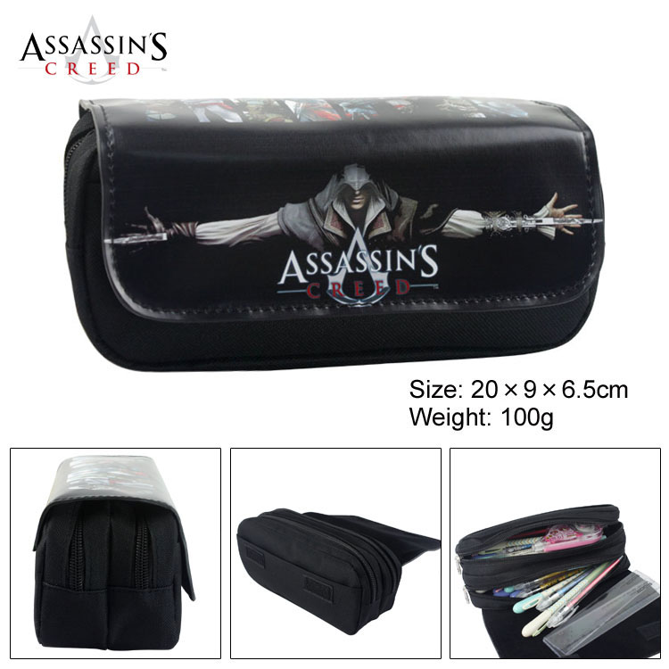 Anime Assassin Creed Puzzle Game Boy Girl Cartoon Pencil Case Bag School Pouches Childre ...
