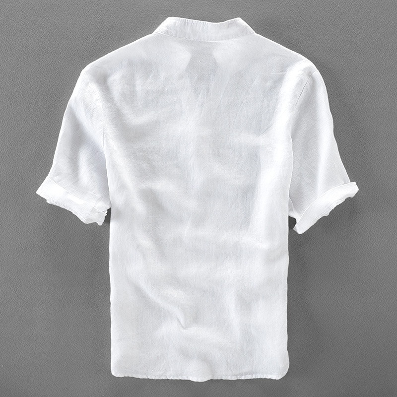 Italy brand linen shirts men short sleeve flax men shirt short sleeve fashion shirts male solid summer shirt men chemise camisa