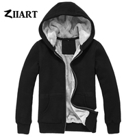 Custom Made Logo Pictures Letters Text Etc. Couple Clothes Boys Man Male Full Zip Autumn Winter Plus Velvet Parkas ZIIART