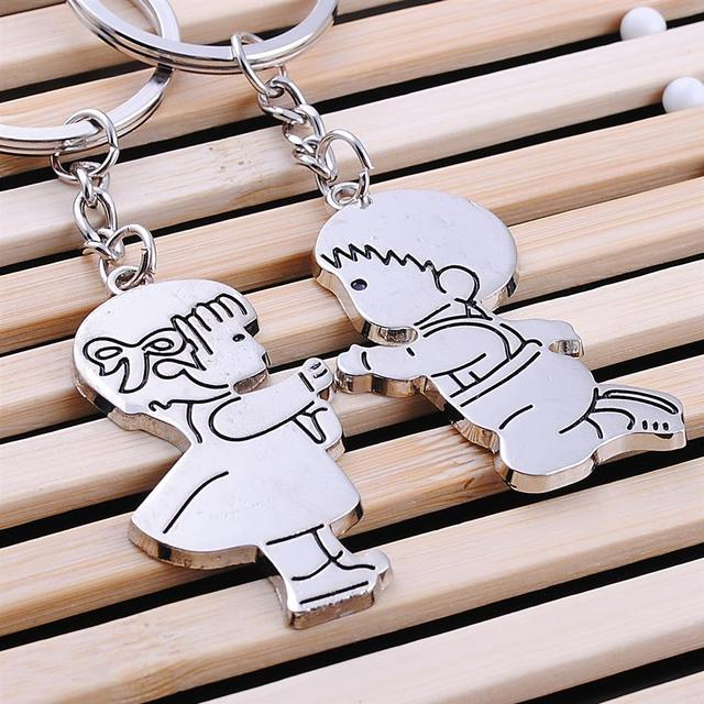 New Creative Boy And Girl Romantic Propose Marriage Present Wedding Birthday Gifts Couple Keychains Keyring Keyfob