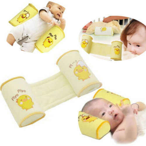 Baby Infant Newborn Sleep Positioner Anti-roll Shape Pillow Protect Flat Head Shaping Pillow