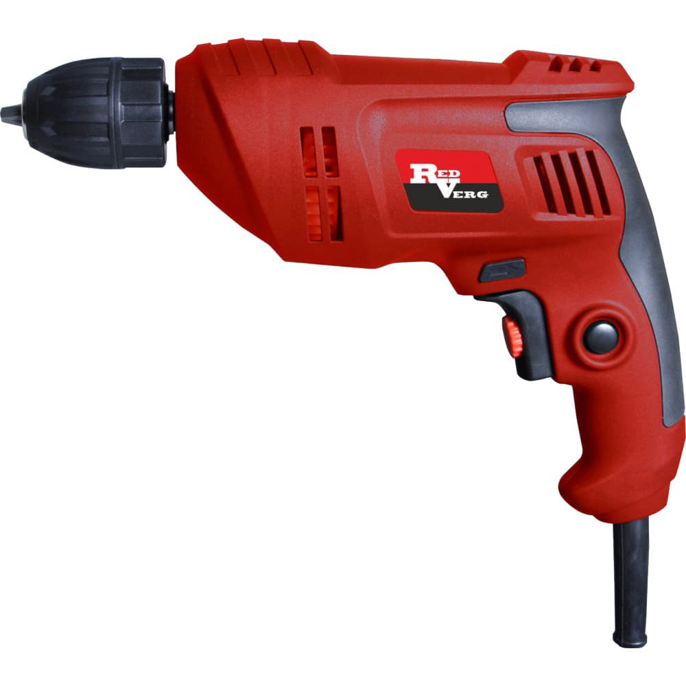 Electric drill RedVerg RD-D540 (no-load Speed 2900 rpm, double insulation, reverse) electric hammer drill redverg rd rh650 no load speed 1200 rpm 5500 beats per minute