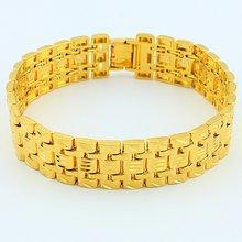 Цепочка на запястье желтый золотистый женский и мужской браслет