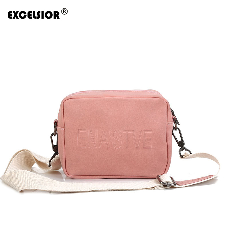 EXCELSIOR 2018 Solid PU Leather Crossbady BagWomen Flap Handbags Bags Ladies Shoulder Bags For Female with Single Strap G1796