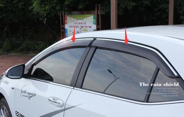 Para Toyota Corolla 2014 2015 Ventana Toldos Viseras Deflector de Viento Lluvia Visera Guardia Vent