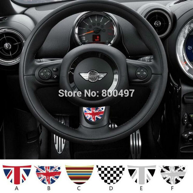 Newest Car Decal Steering Wheel Customized Made Set For Mini Cooper Clubman Roadster Countryman Paceman