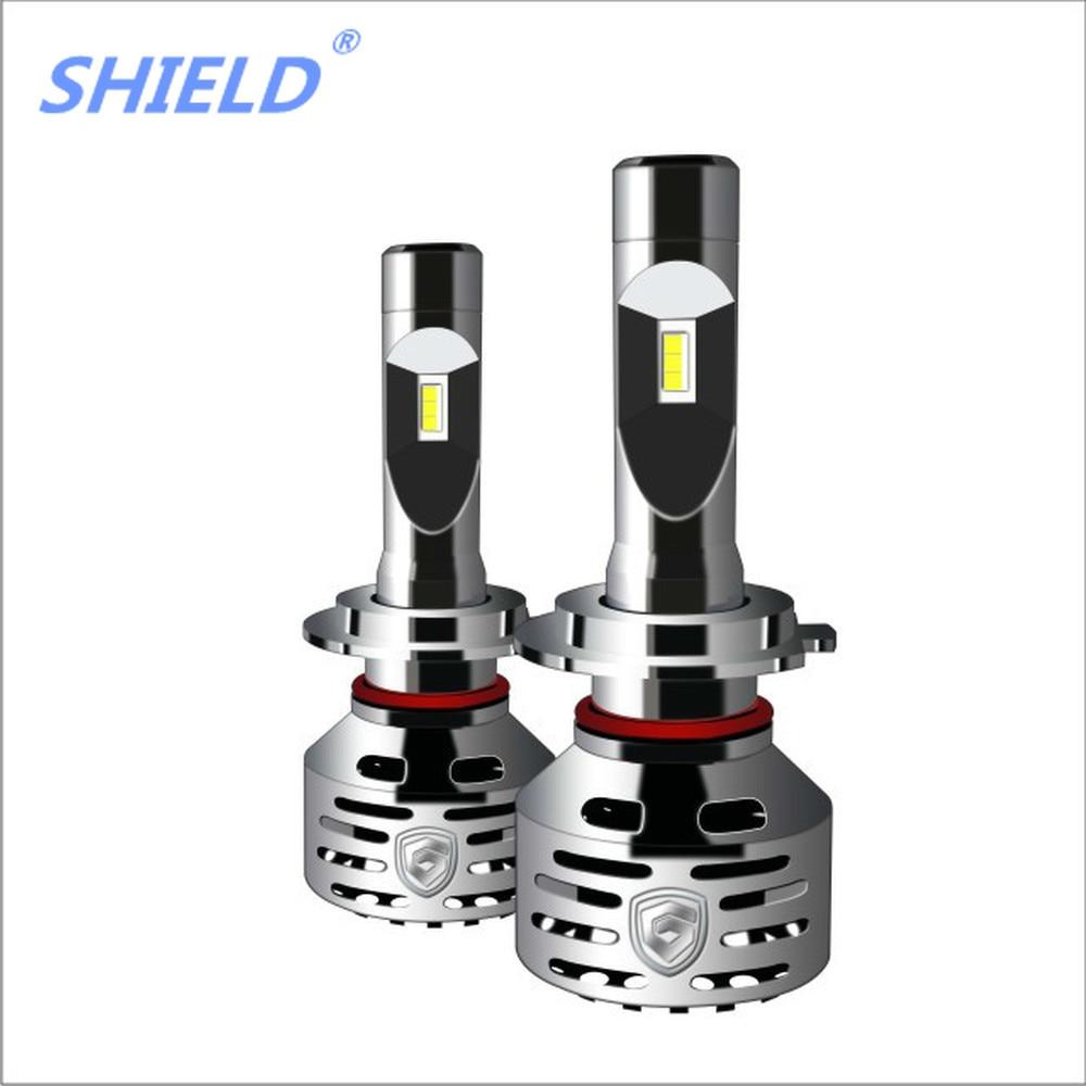 PAMPSEE H4 LED Auto Lamp H1 H7 H3 HB2 Hi/Lo DIY Led Car Headlight Bulb COB Chip 40W 6000LM RGB Beam Fog Light Bluetooth Control - 2