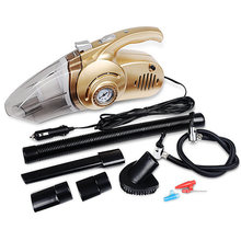 Multifunction 12V 100W Auto Vacuum Cleaner With LED And Inflator HEPA Filter Handheld Cleaning Tools Mini Vacuum For Car