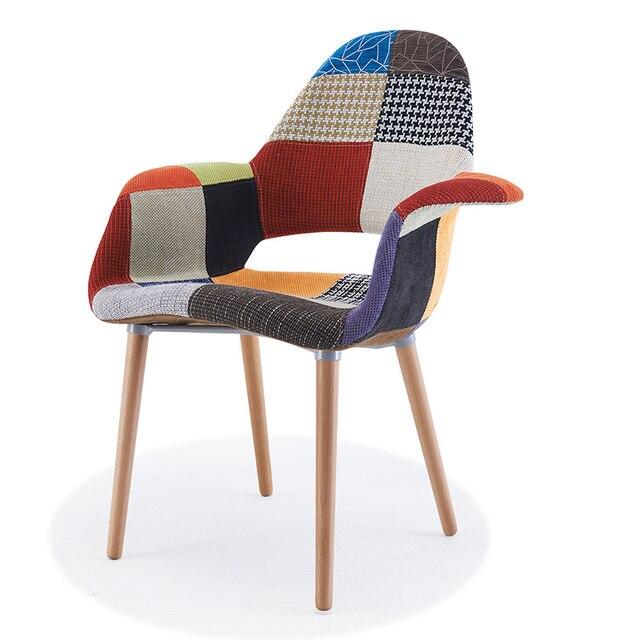 Zestaw 2 Tapicerowane Wygodne Nowoczesne Organic Fotel
