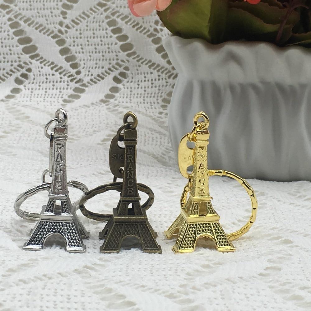 60 Silver Eiffel Tower Paris Key Chain Wedding Bridal Shower Event Party Favors