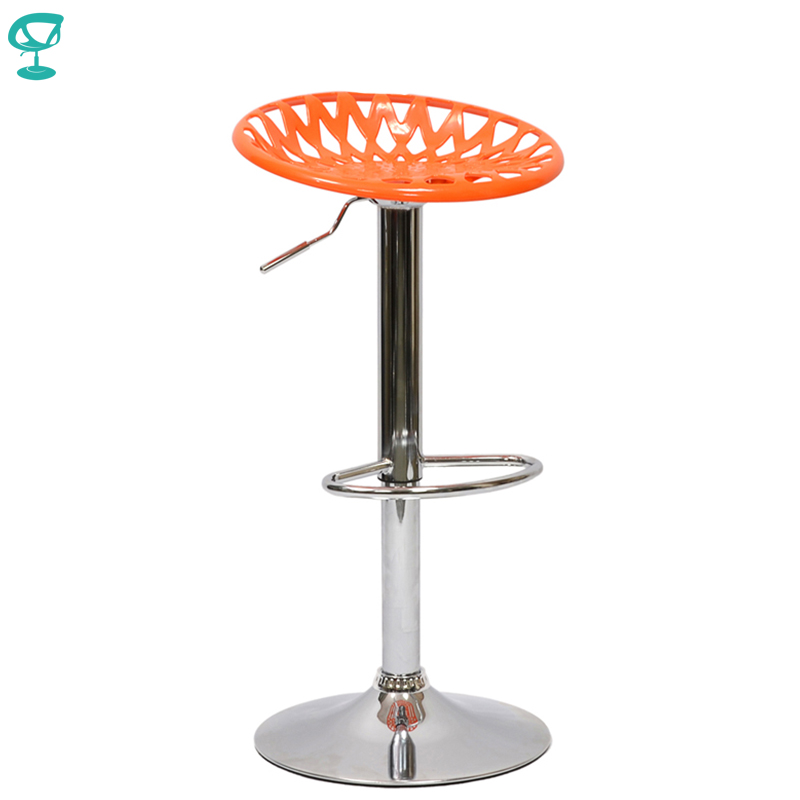94888 Barneo N-37 Plastic High Kitchen Breakfast Bar Stool Swivel Bar Chair Orange Free Shipping In Russia