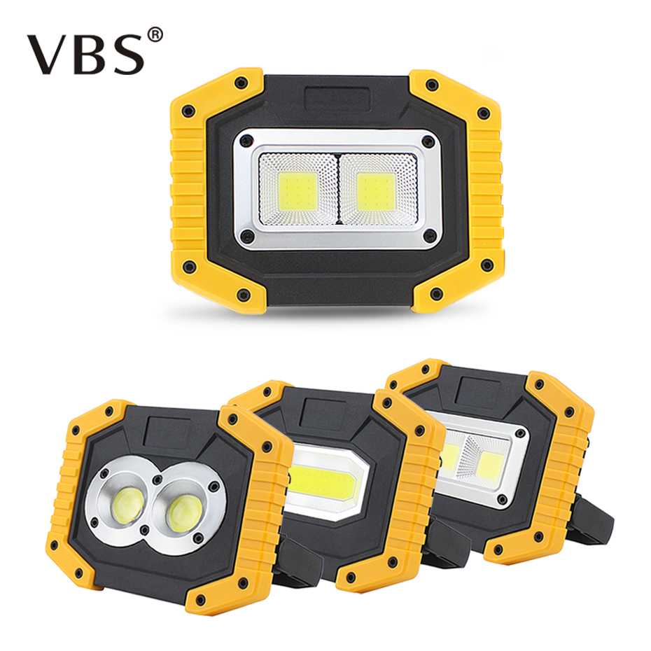 20W COB Portable Spotlights Flood Light Rechargeable LED Work Light Outdoor Camping Emergency Lantern Power Bank Searchlight portable led spotlights led solar power rechargeable flashlight light searchlight outdoor camping hanging lantern lamp