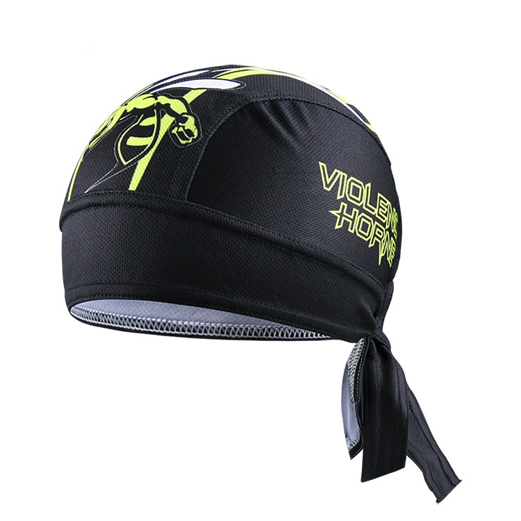 Black HornetCycling Bike Bicycle Sweat Proof Hat Headband Riding Pirate Cap Scarf Free Shipping CC3545