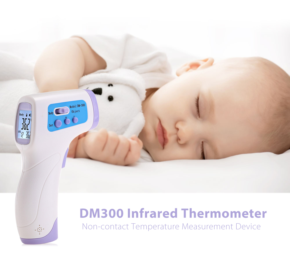 купить DM300 Mutifuction Baby Digital Termomete Adult Body Forehead Infrared Thermometer Gun Non-contact Temperature Measurement Device по цене 729.34 рублей
