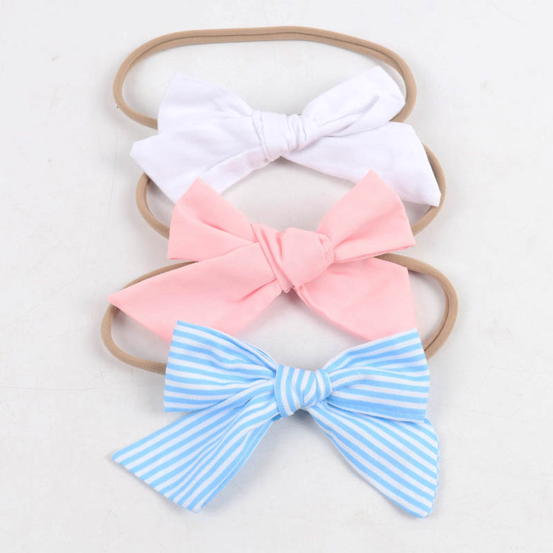 3Pieces/Set Fabric Knotted Bow Headband For Girls Solid Striped Hair Bow Elastic Nylon Hairband Hair Accessories игра yako кухня y18614127
