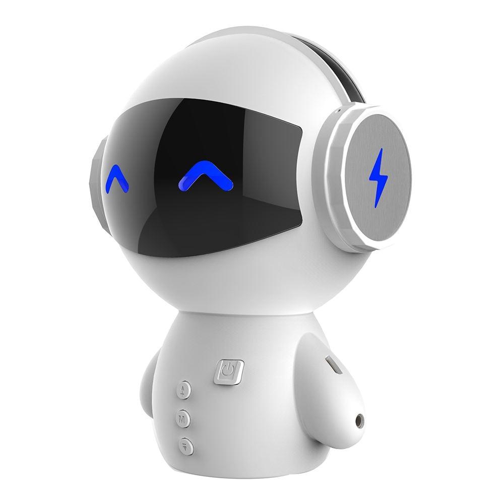 HOT-Portable Cartoon Robot Mini Bluetooth Speakers Bluetooth Wireless Receiver Speaker Stereo Music Player