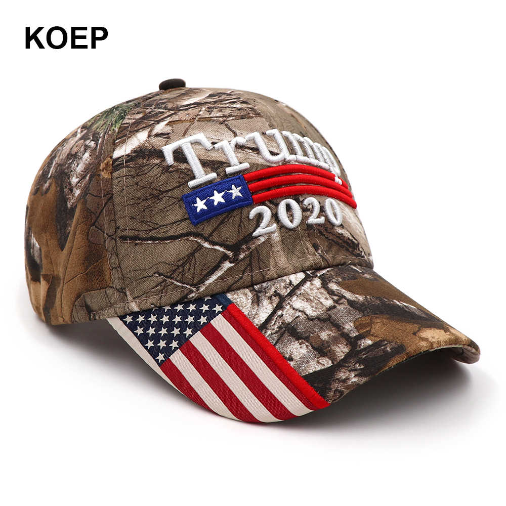 51828344d39115 ... Donald Trump 2020 Cap Camouflage USA Flag Baseball Caps Make America  Great Again Snapback President Hat ...
