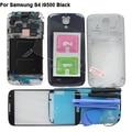 Preto Original Completo Caso Da Habitação cheia Tampa Frontal de Vidro Exterior Para Samsung Galaxy S4 SIV I9500 Vidro Temperado + Ferramentas adesivo