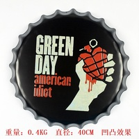 Green Day American Idiot Different Design Beer Bottle Cap Tin Signs Bar Coffee Movies Wall Decor