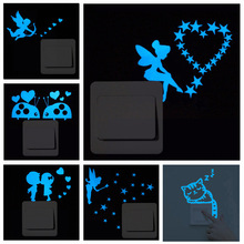 New 3D wall stickers for kids rooms Luminous cat fairy stars sticker wall sticker decorative stickers home decor living room недорого
