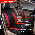 4 Colors Car Seat Cover Specifically tailored for NISSAN LANNIA (2016) pu artificial leather Car Styling car accessories