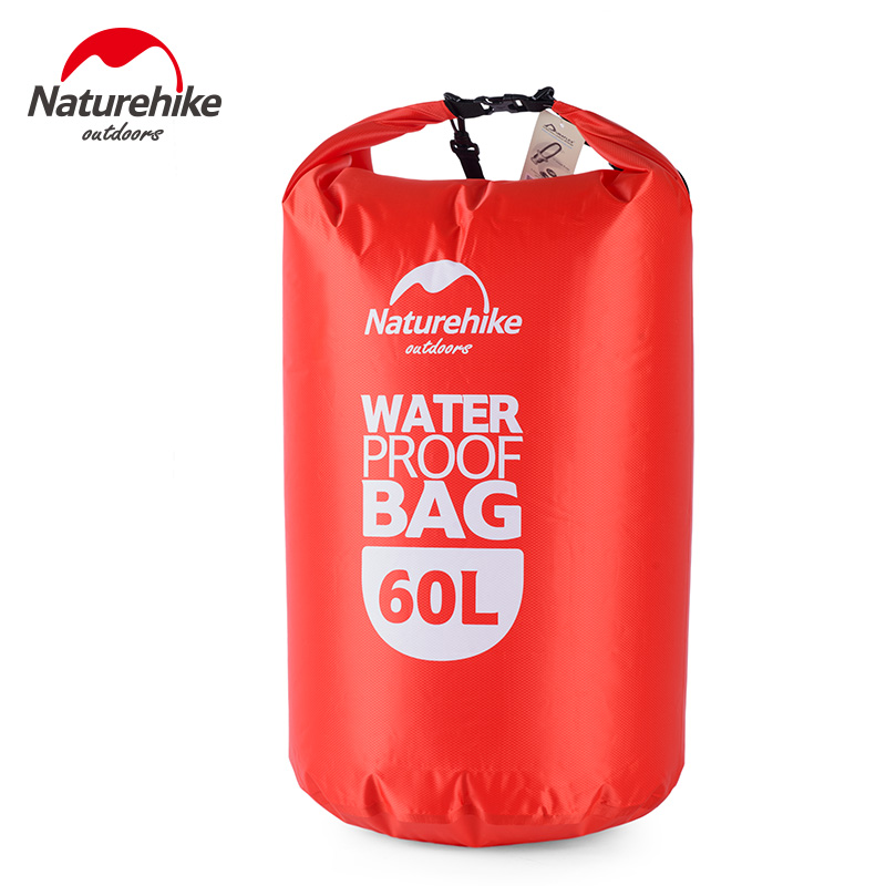 NatureHike 60L Ultralight Swimming Rafting Bag Dry Wet Separating Bags High Quality Outdoor Waterproof Drifting Bag NH15S005-D
